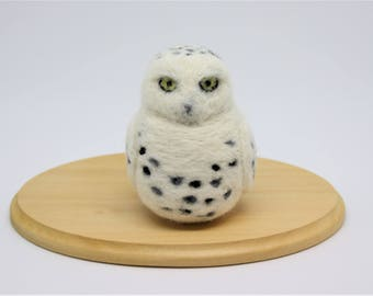 Needle Felted Owl Needle Felted Snowy Owl Needle Felted Bird Needle Felted Animal Snowy Owl Ornament Miniature Owl Keychain Owl Bag Charm