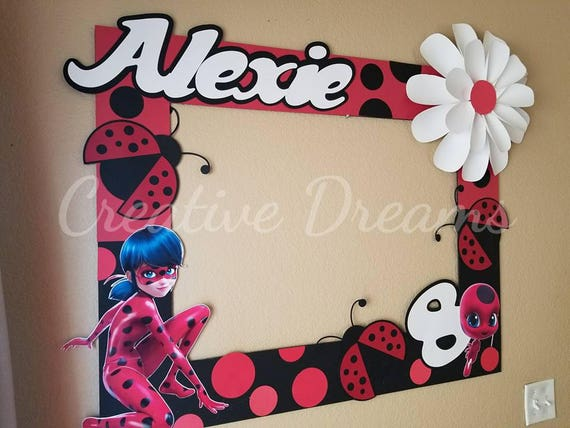 Miraculous Ladybug Party Photo Frame | Etsy