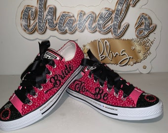 ad68336d7d7d5 WOMEN'S Pink/Silver Chanel Drip Inspired Converse All Star | Etsy