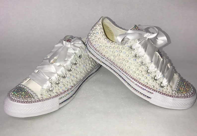 2ac4e0955b4a WOMEN S White Bling Converse All Star Chuck Taylor