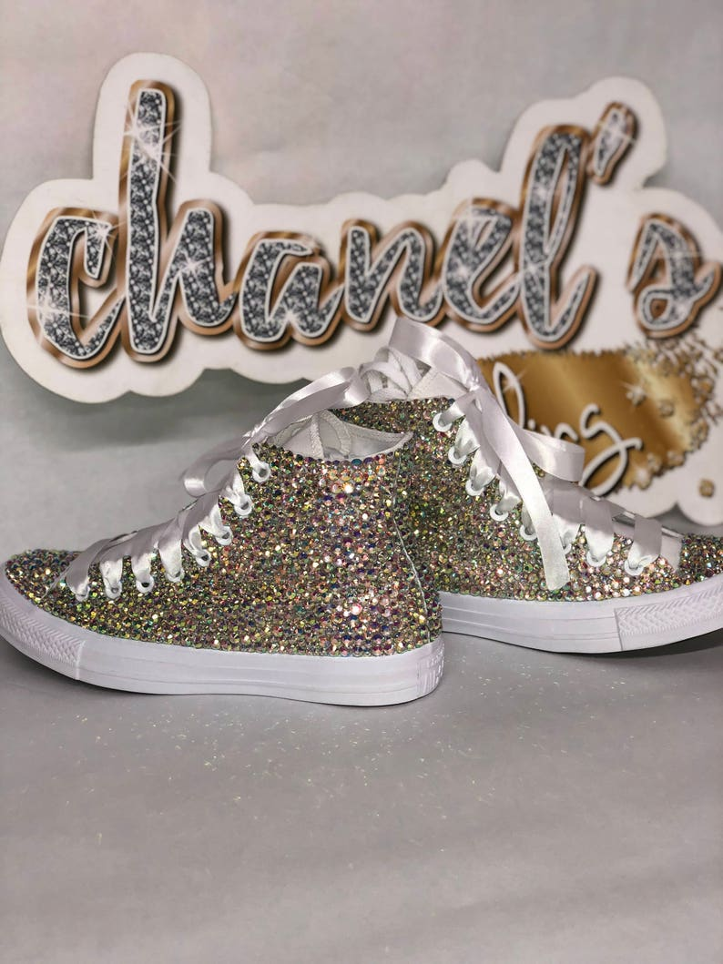 5a0babe2996d WOMEN S Sparkle Glam Bling Converse All Star Chuck Taylor