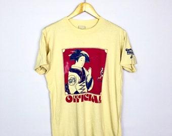 9c62b3a9ee2c6 ULTRA RARE!! Vintage Nike Geisha OFFICIAL Cascade Run-Off Pinwheel 70s  Brand Shirt