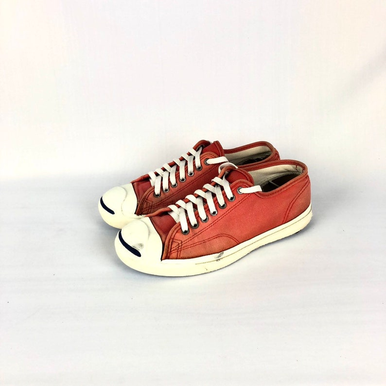 e0f0aabdb8c4 Vintage JACK PURCELL Low-Cut Red 90s Brand Shoe USA