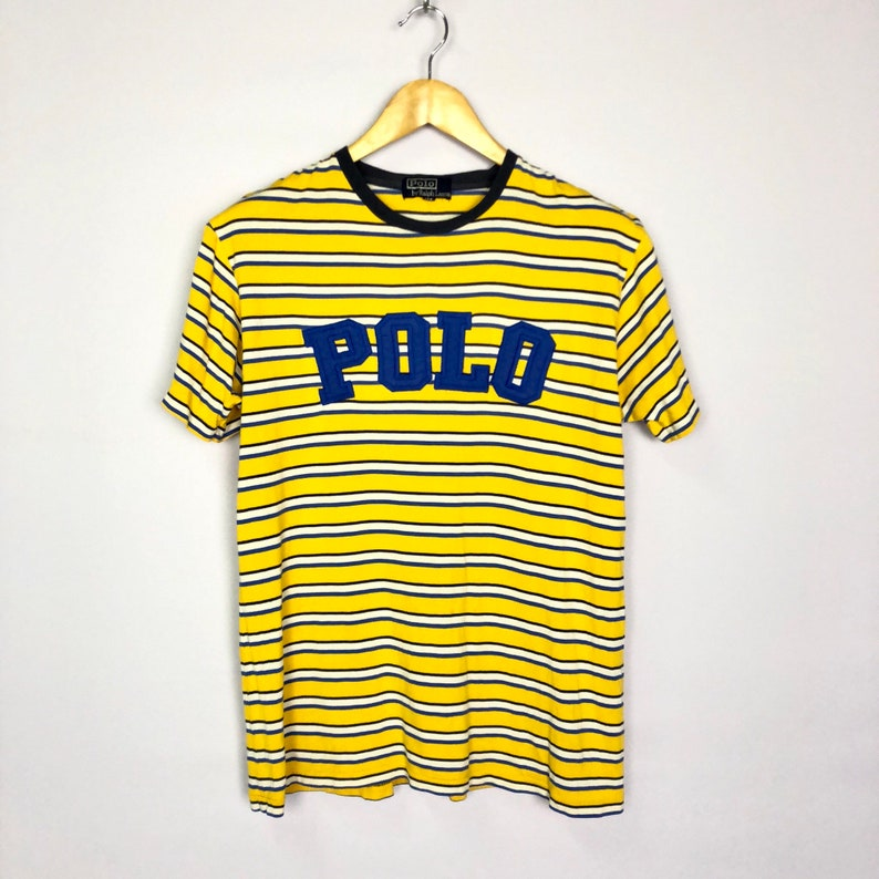 ebf430359 RARE Vintage POLO by Ralph Lauren Striped Multicolor Big Logo | Etsy