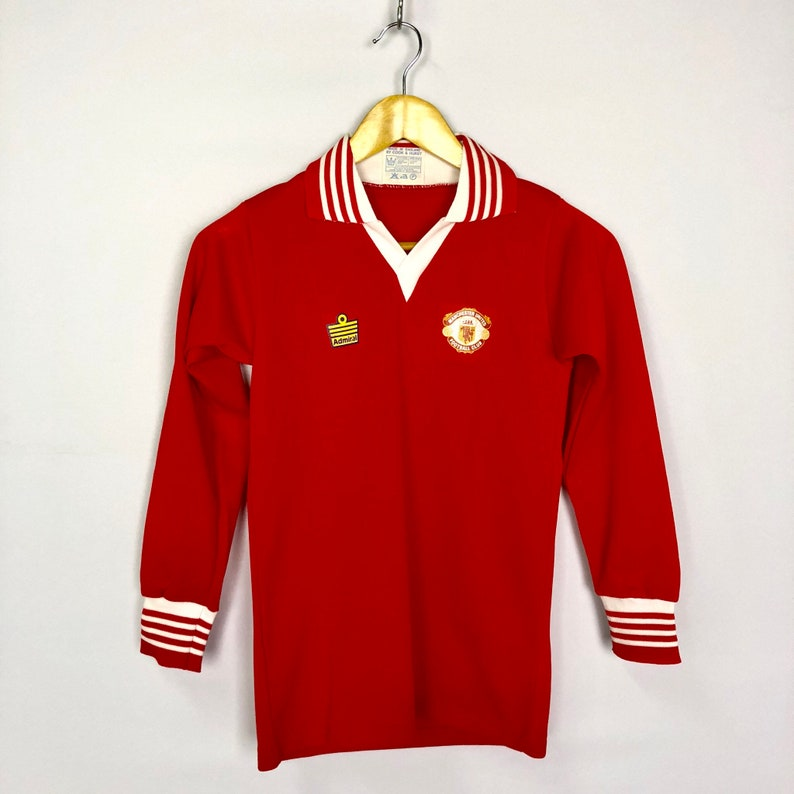 198962c5e MEGA RARE Vintage Admiral Manchester United 1976-1978 F.A