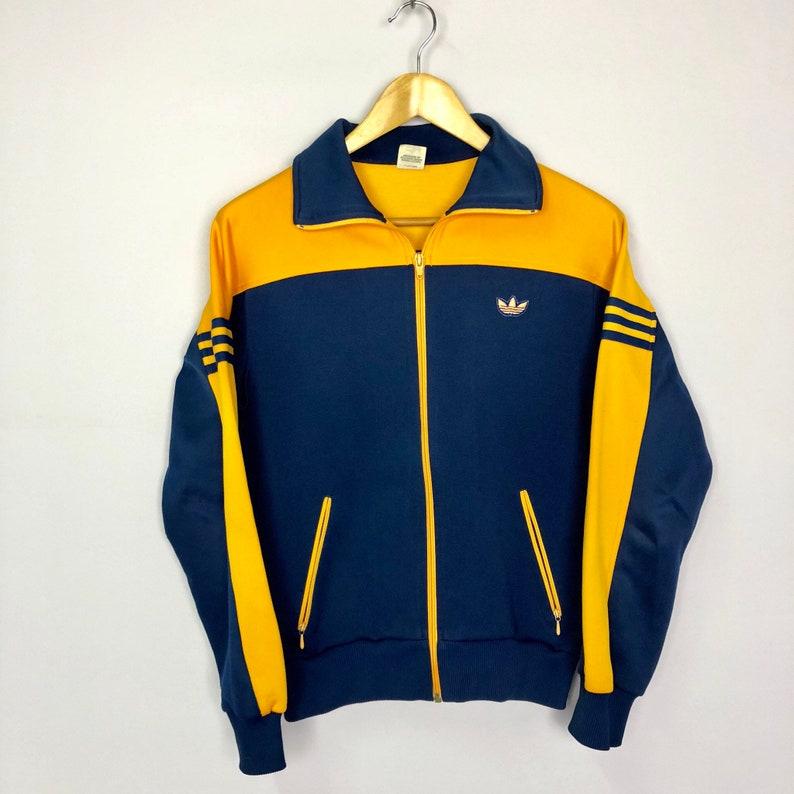 SELTENE Vintage ADIDAS Track Top voll Reißverschluss Jacke Pullover 80er Jahre JAPAN