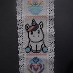 Cross Stitch Bookmark Unicorn