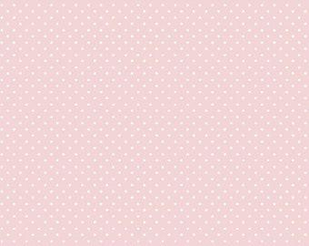 7252b412856d7 hellrosa Punkte Baumwollstoff Baumwolle Stoff Popeline
