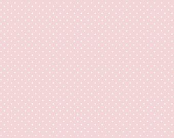 light pink dots cotton fabric cotton fabric Popeline