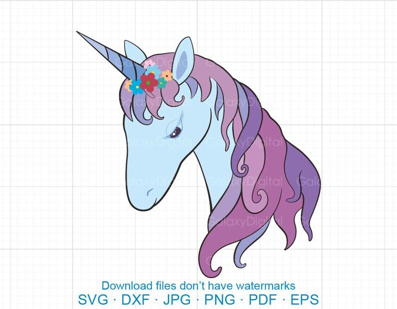 Floral Unicorn Svg Unicorn Eyelashes Svg Unicorn Birthday Etsy