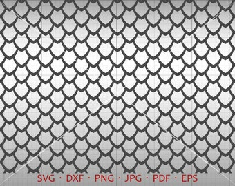 Dragon Scales SVG, Seamless Dragon Scales Clipart Vector DXF Silhouette Cricut Cut File Commercial Use