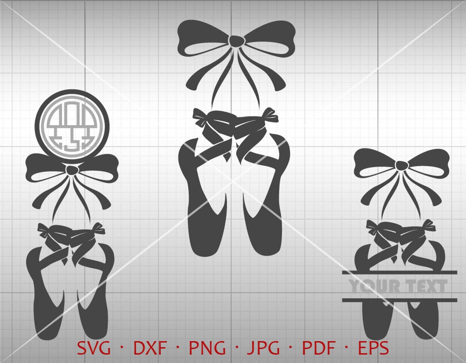 ballet shoes svg, ballet dancer svg, ballet monogram frame svg, ballerina clipart shirt svg silhouette cricut cut files