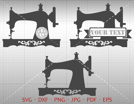 Sewing Machine SVG Sew Monogram Frame Sewing Machine Etsy Unique Monogram And Sewing Machine