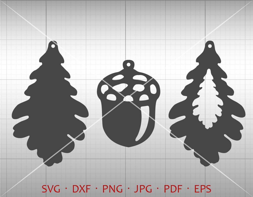 Eiche Blatt Ohrring SVG Eichelanhänger Svg Tropfen Vektor | Etsy