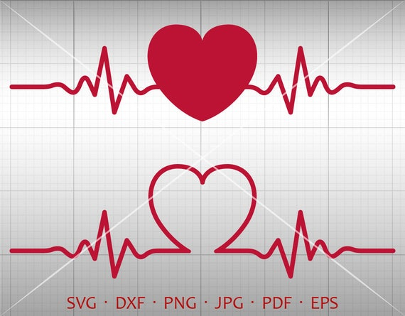 Heartbeat Svg Love Svg Heart Svg Valentine S Day Clipart Etsy
