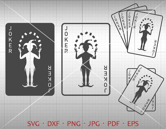 Poker Joker Svg Joker Clipart Playing Cards Svg Dxf Etsy