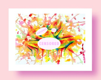 Colorful Climax - Erotic Art GICLÉE Print Illustration Wall Art Poster Home Wall Decor Acrylic Sexual Painting Fine Art Love Sex Mature