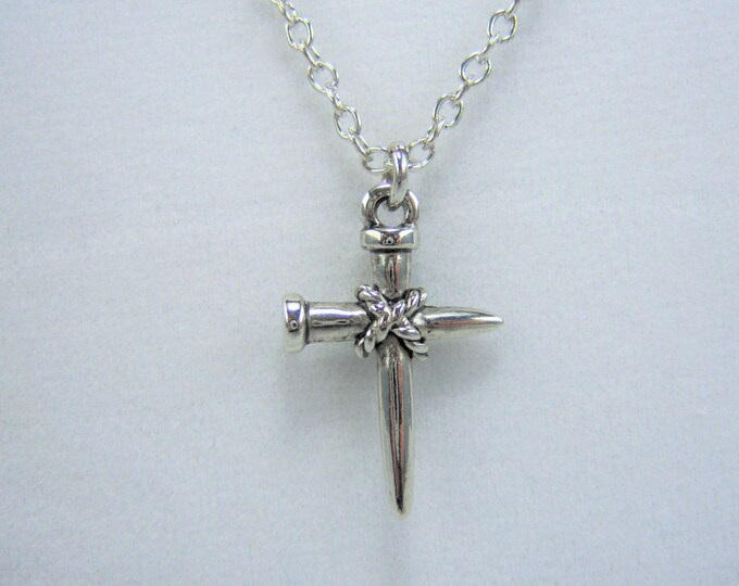 N373 - Cross, Nail, Necklace