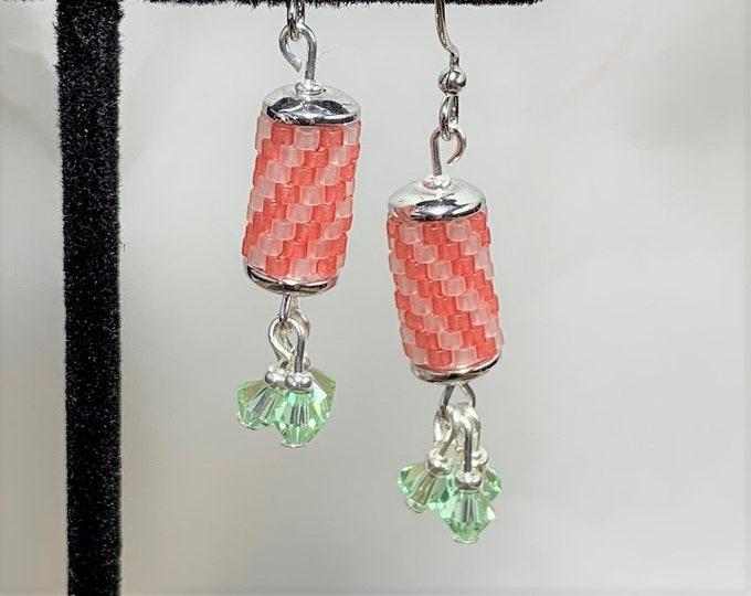 HE597 Peyote Stitch Earrings