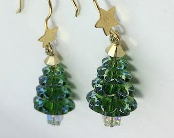 XMAS495 - Christmas Tree Earrings