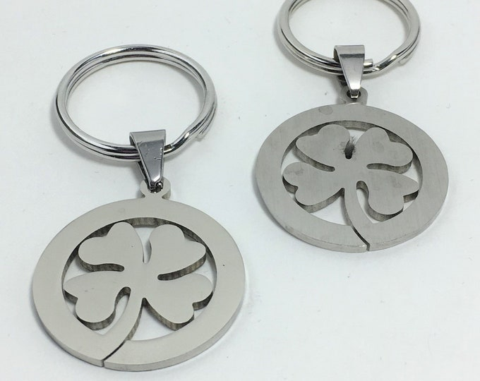 K546 - 4-Leaf Clover Stainless Steel Key Chain