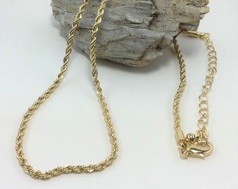 M460 - Gold Twisted Rope Necklace