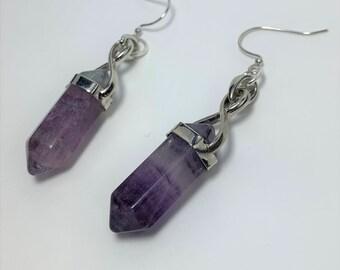 E608 - Amethyst Point Earrings