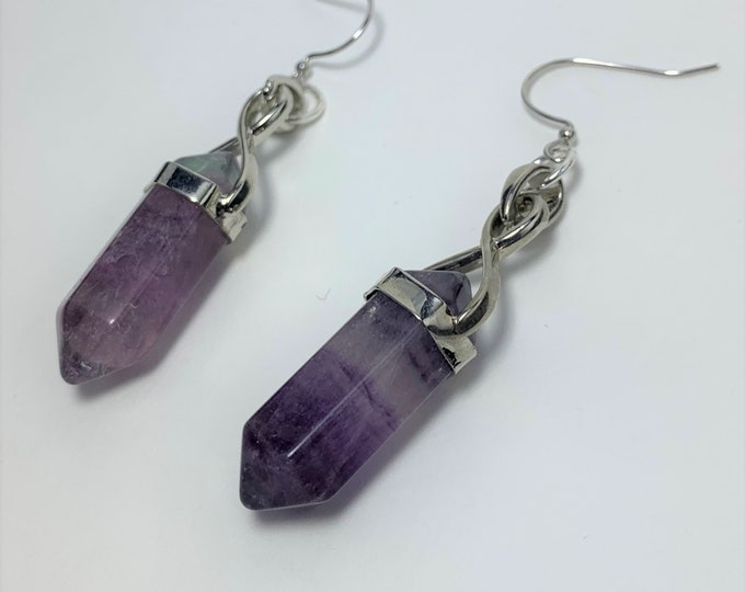 E608 - Amethyst Point Earrings