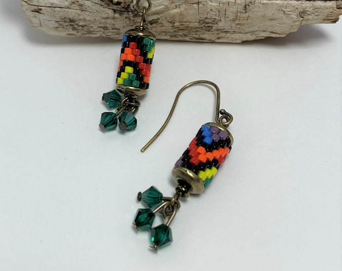 HE616 - Braided Ribbon Pride Earrings