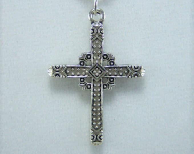 N417 - Cross, Antique Nickel, Necklace