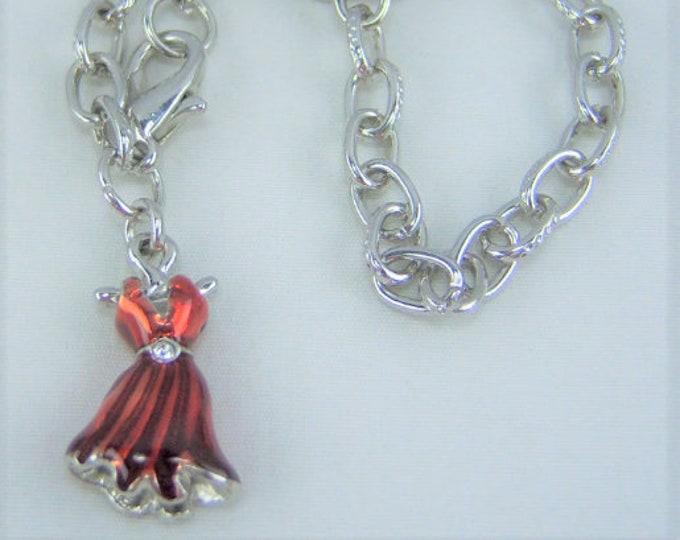 B271 - Red Dress Charm Bracelet
