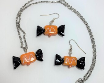 HLWN281 - Mary Jane Candy Necklace and Earrings