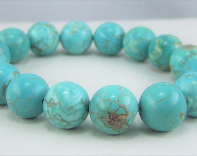 HMJ181 - Turquoise Dyed Howlite Bracelet