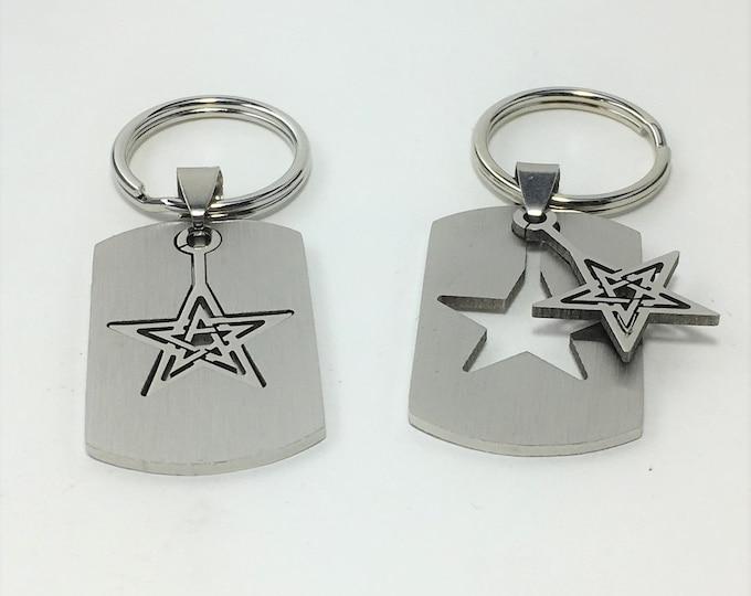 K585 - Star Stainless Steel Key Chain