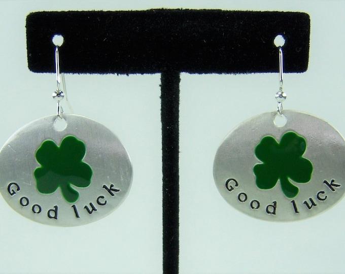 E469 - Good Luck Shamrock Earrings