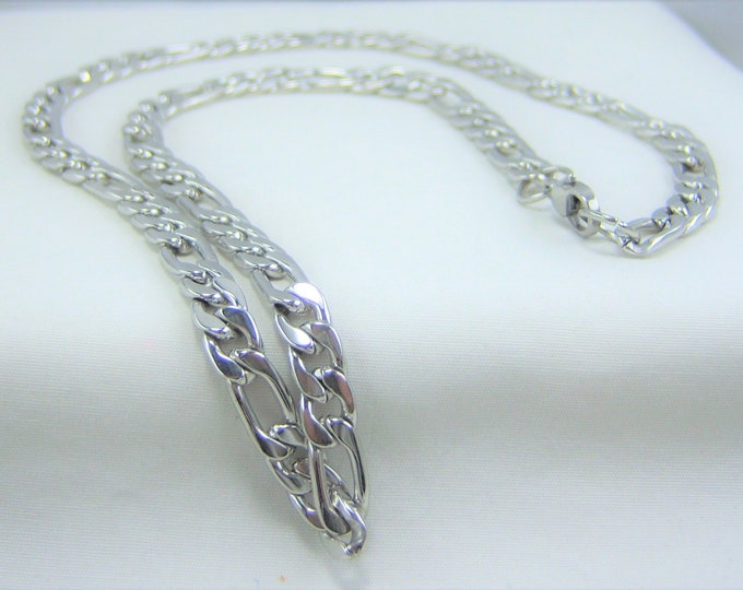 M143 - Mens Flat Figaro Chain Necklace