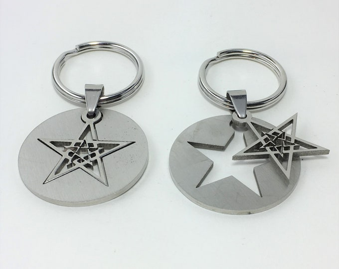 K583 - Star Stainless Steel Key Chain
