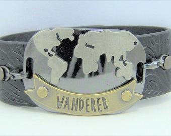 B231 - Leather Cuff Bracelet