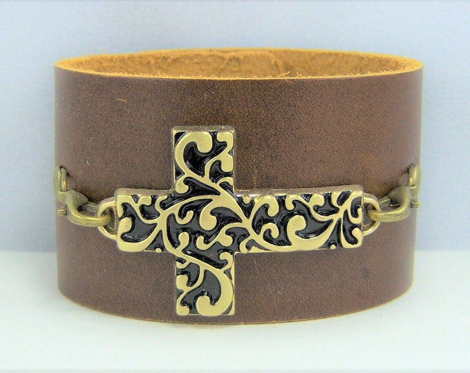 B227 - Leather Cuff Bracelet