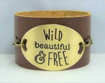 B226 - Leather Cuff Bracelet