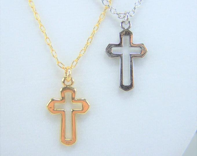 N370 - Cross, Open, Necklace