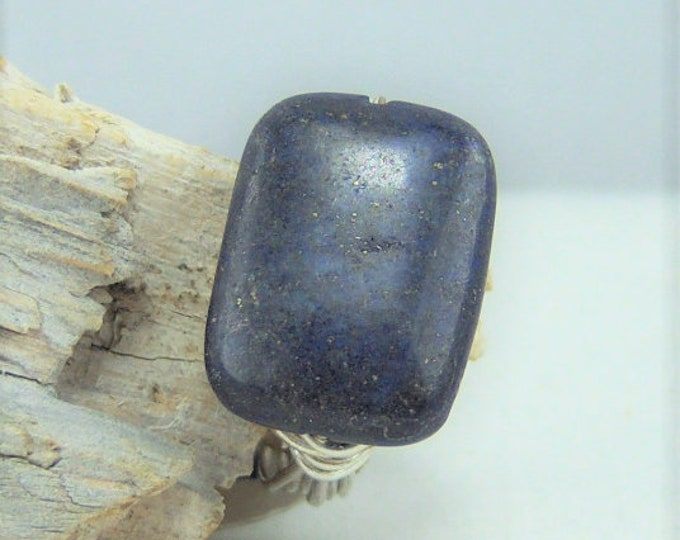 R404 - Lapis Stone Wire Wrapped Ring