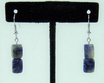 E474 - Sodalite Nugget Earrings
