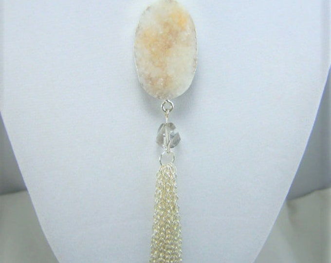 N416 - Crystal Druzy Necklace