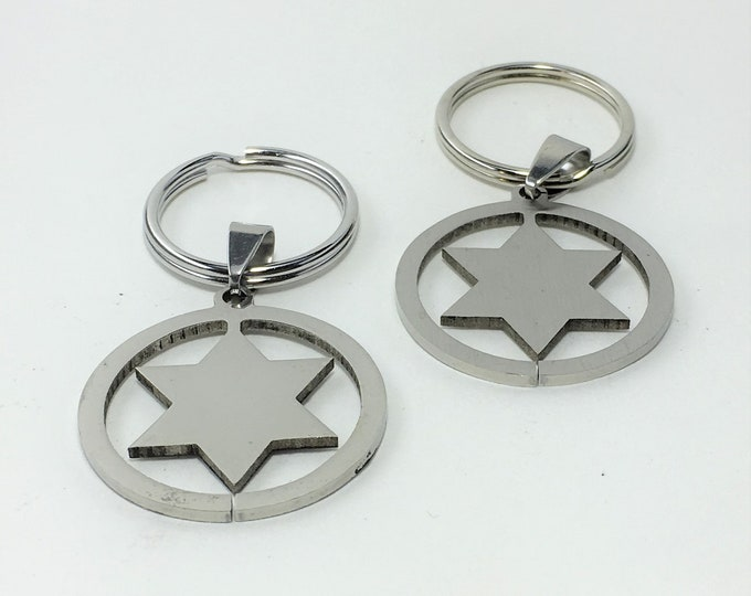 K584 - Star Stainless Steel Key Chain