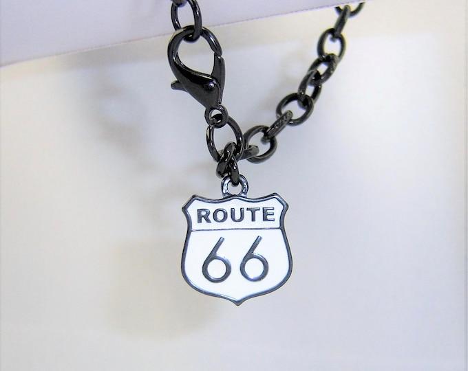 B233 - Route 66 Black Chain Bracelet