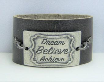 B224 - Leather Cuff Bracelet