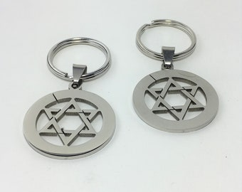 K586 - Star Stainless Steel Key Chain