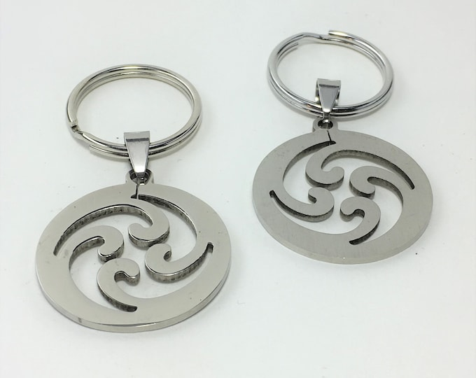 K587 - Swirl Stainless Steel Key Chain