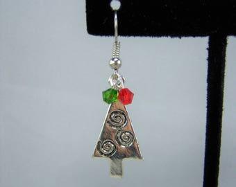 XMAS380, Christmas Tree Earrings